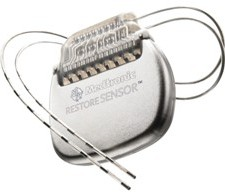 Medtronic Restore Sensor front view with leads