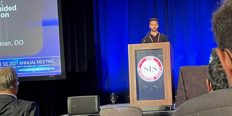 Dr. Farzad Karkvandian presents at the Spine Intervention Society's 2021 Annual Meeting